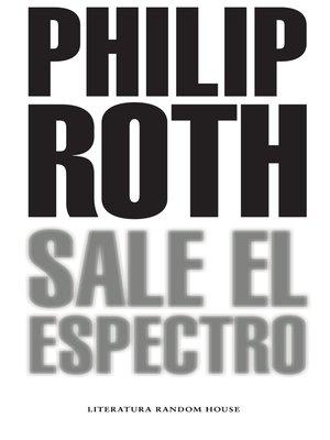cover image of Sale el espectro