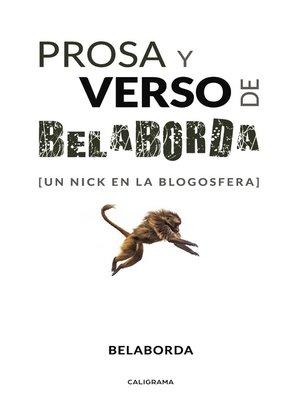 cover image of Prosa y verso de Belaborda