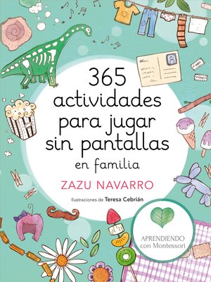 cover image of 365 actividades para jugar sin pantallas en familia