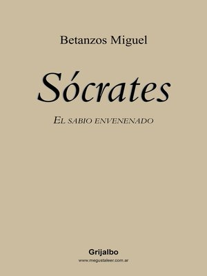 cover image of Sócrates. El sabio envenenado