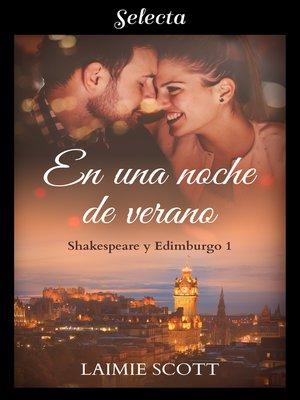 cover image of En una noche de verano (Shakespeare y Edimburgo 1)
