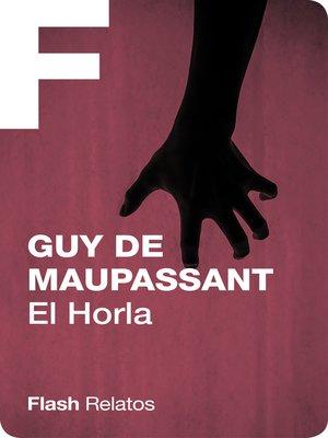 cover image of El Horla (Flash Relatos)