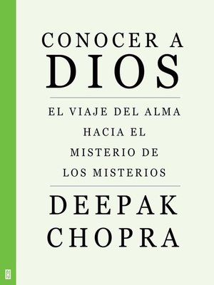 cover image of Conocer a Dios
