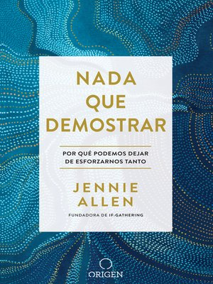 cover image of Nada que demostrar