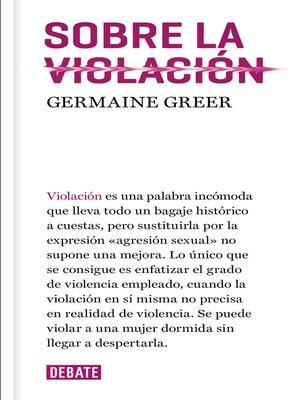 cover image of Sobre la violación