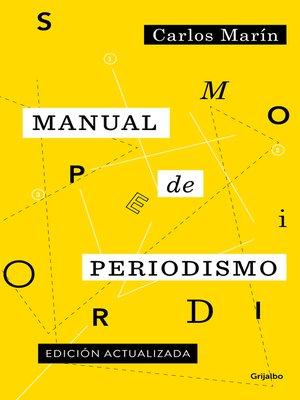 cover image of Manual de periodismo
