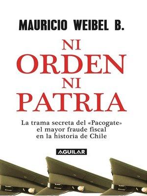 cover image of Ni orden ni patria