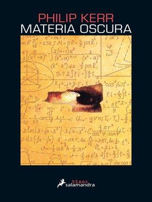 cover image of Materia oscura