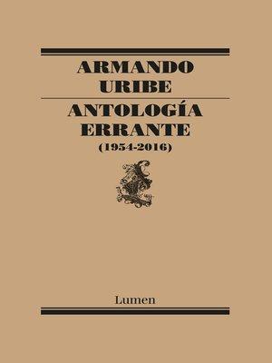 cover image of Antología errante
