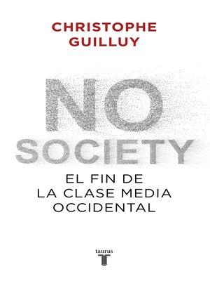 cover image of No society