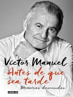 cover image of Antes de que sea tarde