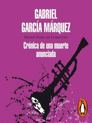 cover image of Crónica de una muerte anunciada