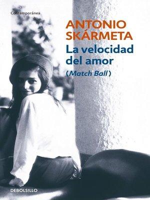 cover image of La velocidad del amor