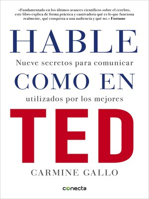 cover image of Hable como en TED