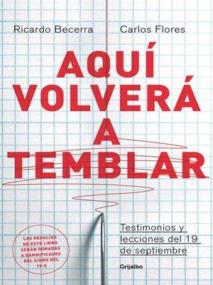 cover image of Aquí volverá a temblar