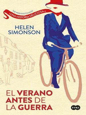 cover image of El verano antes de la guerra