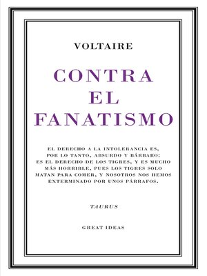 cover image of Contra el fanatismo religioso (Serie Great Ideas 39)