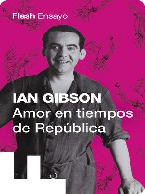 cover image of Amor en tiempos de Replública