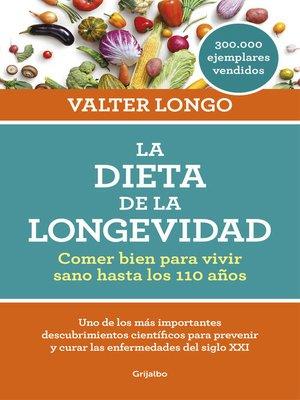 cover image of La dieta de la longevidad