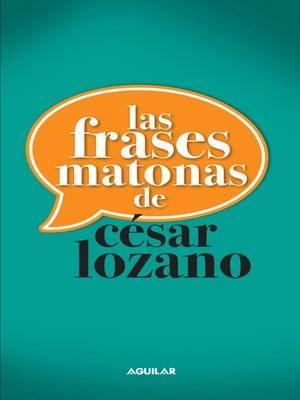 cover image of Las frases matonas de César Lozano