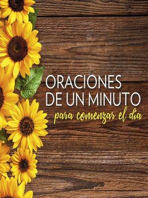 cover image of Oraciones de un minuto para comenzar el día