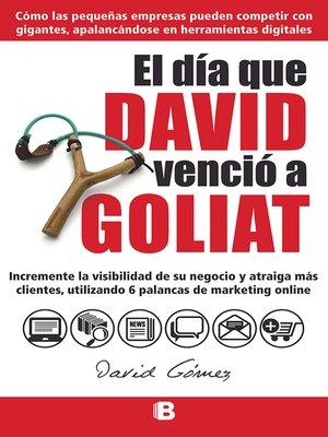 cover image of El día que David venció a Goliat