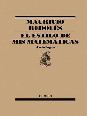 cover image of El estilo de mis matemáticas