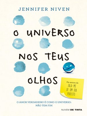 cover image of O universo nos teus olhos
