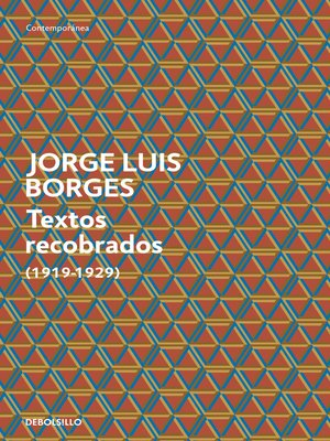 cover image of Textos recobrados (1919-1929)