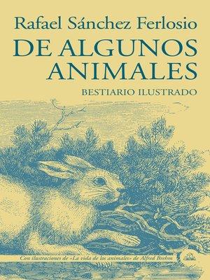 cover image of De algunos animales