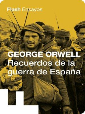 cover image of Recuerdos de la guerra de España (Colección Endebate)