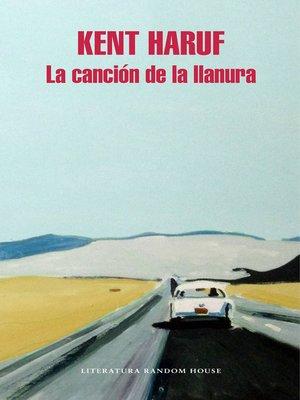 cover image of La canción de la llanura