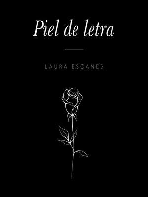 cover image of Piel de letra