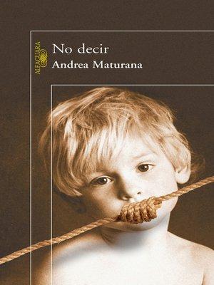 cover image of No decir
