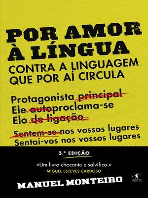 cover image of Por amor à língua