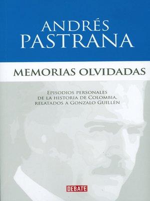 cover image of Memorias Olvidadas