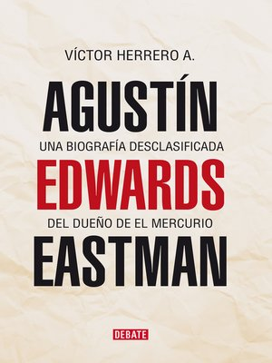 cover image of Agustín Edwards Eastman