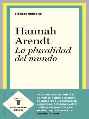cover image of La pluralidad del mundo