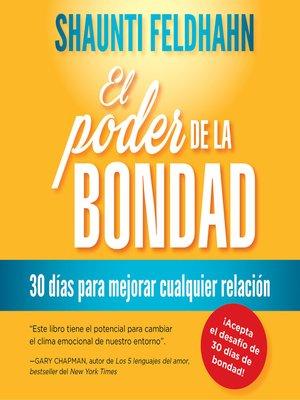 cover image of El poder de la bondad