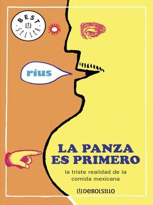 cover image of La panza es primero