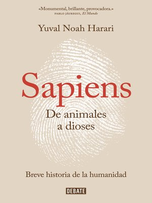 cover image of Sapiens. De animales a dioses