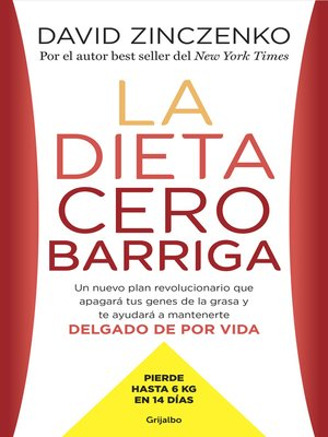 cover image of La dieta cero barriga
