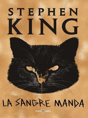 cover image of La sangre manda