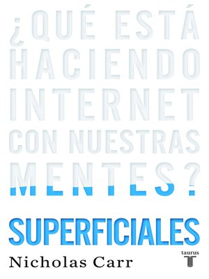 cover image of Superficiales