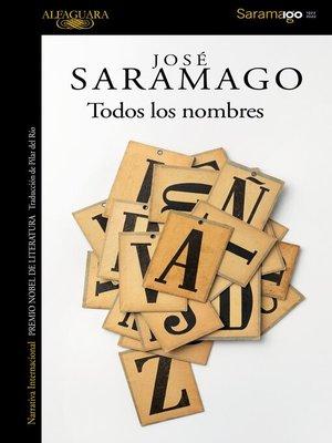 cover image of Todos los nombres