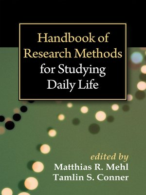 cover image of Handbook of Research Methods for Studying Daily Life