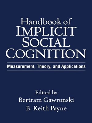 cover image of Handbook of Implicit Social Cognition