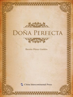 cover image of Doña Perfecta(唐娜贝尔菲塔)