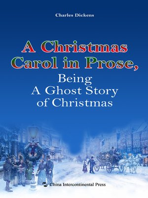 a christmas carol in prose being a ghost story of christmas a ae e c i