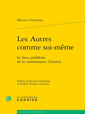 cover image of Les Autres comme soi-même--Le faux problème de la connaissance d'autrui
